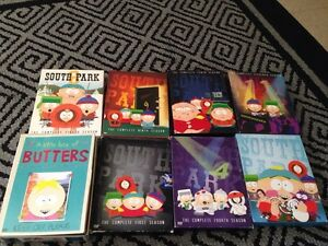 South Park DVD Seasons 1,4,8,9,10,11,15 & butters best of