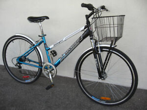 Rare Schwinn 7 Speed Hybrid w/ Shocks, Fenders + Basket