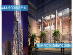 WOW! Modern Furnished Condo Downtown TO @ Aura - Sept 1