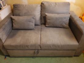 Grey sofa bed with extra sponge