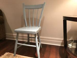 Rustic wood chairs - set of six
