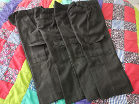 Boys Age 4 Charcoal Cargo Trousers x 4