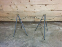 2 Glass Top Lamp Stands - Delivery