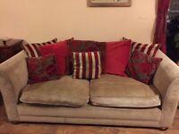 Sofa for sale - fabric three seater.