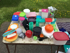 tupperware, partylite, table, movies, come see/make offer