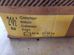 2 1/2 Inch Common Nails, Approximately 70 pounds