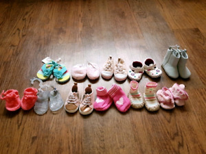 Baby girl shoe lot size 3 to 6 month
