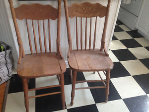 Two antique chairs $10 pair