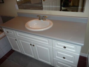 Bathroom Counter Top with Sink and Faucets