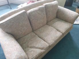 Feather filled cushion Sofa.
