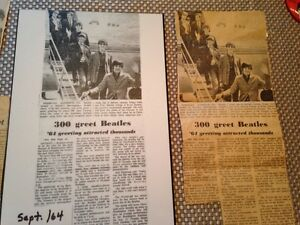 Beatles newspaper clippings Kitchener / Waterloo Kitchener Area image 4
