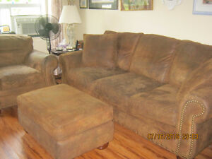 Microfiber couch, chair and ottaman