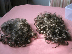 2- synthetic curly hair pieces (new)-STRATHROY London Ontario image 1