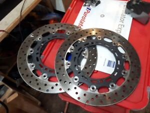 Yamaha R6, rotors and R1 inverted forks