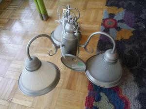 3 bulb chandelier - nickel finish