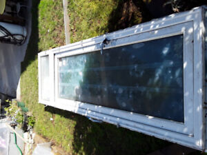 10' new vynal ext.door on frame