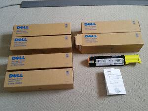 NEW: Six Original Dell 3000CN/3100CN Toner Cartridges