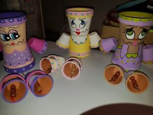 FLOWER CLAY Pot People