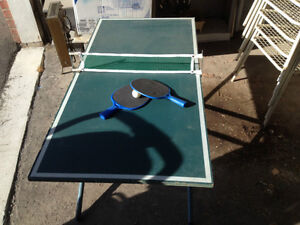 Downsized Ping Pong Table - Great for Kids Learning to Play