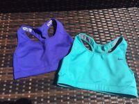 2 x Nike sports bras size 8