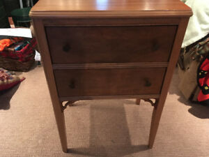 White Sewing / Thread table