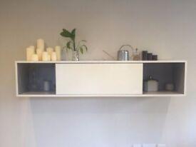 Habitat Aspen High Gloss White Wall Shelving / Storage Unit - Excellent Condition