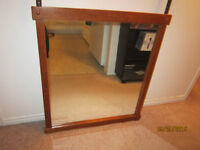 Mirror With Real Wood Frame