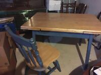 Solid wood table and chairs for sale. Maple.