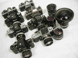 Buying Vintage Nikon PENTAX Cameras lenses Paying Cash