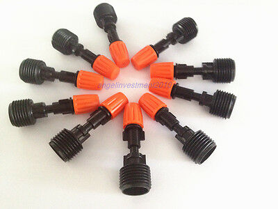 10pcs Misting Plastic Atomizing Sprinkler Nozzle 12 Thread Flow Adjustable