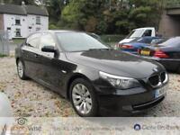 BMW 5 SERIES 520D SE, Black, Auto, Diesel, 2008 2 Former keepers, Full History