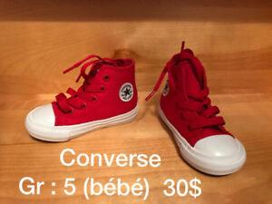 Converse Rouge pour bambin  (Jamais portés)