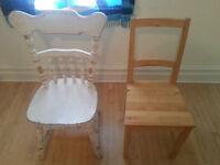 Chaises en bois - wooden chairs