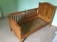 Mothercare cot bed. Free local delivery.