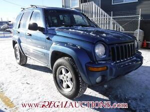 2003 JEEP LIBERTY LIMITED 4D UTILITY 4WD LIMITED