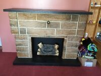 Fireplace with 8-track and record player