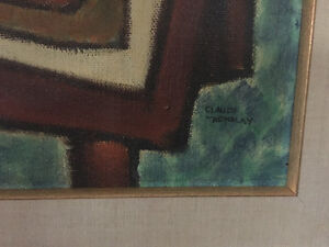 Claude Tremblay still life acrylic painting signed West Island Greater Montréal image 3