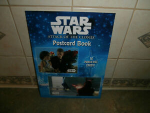 STAR WARS ATTACK OF CLONES POSTCARD BOOK