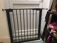 Black baby gate