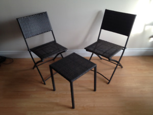 Patio Set (3 Piece) - Foldable Chairs