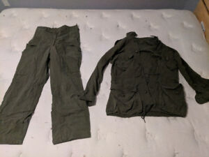 Vintage Canadian Army tunic and pants, near perfect condition.