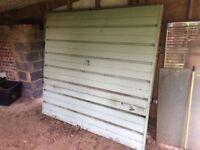2x Metal Garage doors