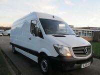 2015 15 MERCEDES-BENZ SPRINTER 2.1 313CDI LWB HIGH ROOF 129 BHP. NEW SHAPE. 1 OW
