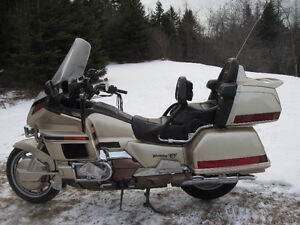 Honda Motorcycle and Cargo/Travel Trailer Combination