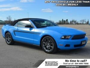 2012 Ford Mustang V6 Premium w/Leather *LOCAL TRADE*  Convertibl