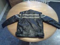 manteau de cuir junior