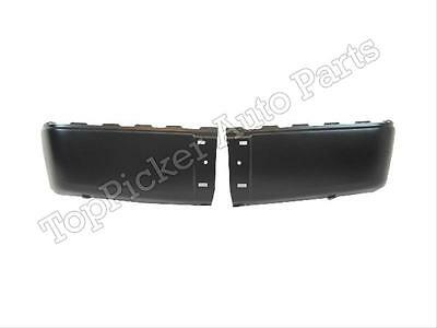 Rear Bumper Black Cap/End Set For 2007-2013 Silverado Sierra W/o Sensor Hole