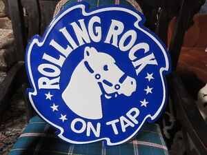 ROLLING ROCK ON TAP SIGN, ONLY GIVEN OUT BY BEER REPS.. AS