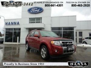 2012 Ford Escape LIMITED  - Leather Seats -  Bluetooth