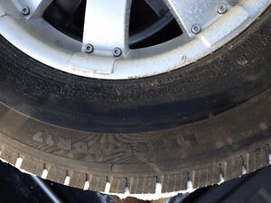 Michelin winter tyres with alloy rim